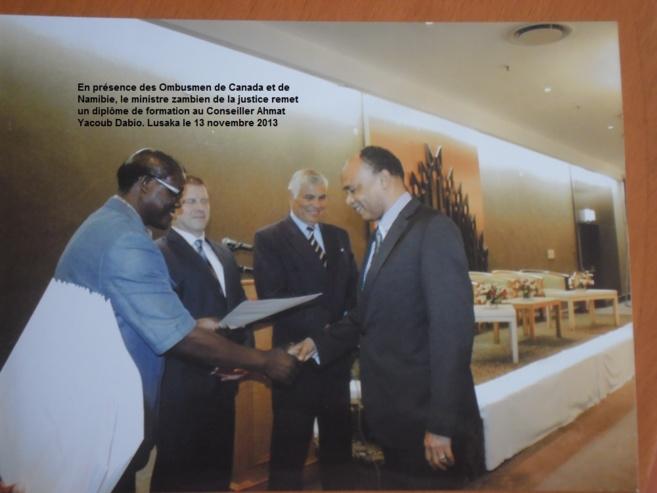 Zambie : Le Ministre de la justice remet une attestation à Ahmat Yacoub Dabio