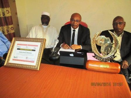 Le prix est présenté ce matin devant la presse, à la Médiature par le Conseiller, Chargé des missions, Ahmat Yacoub.