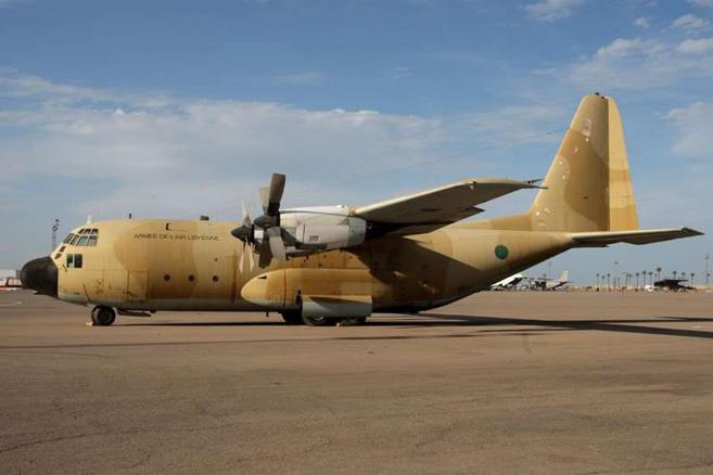 Un c-130 de l'armée de l'air libyenne. Crédit photo : Sources