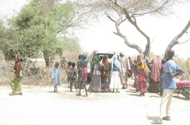 Des populations au Lac Tchad. Illustration © Alwihda Info