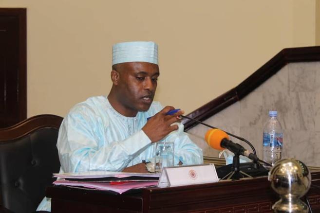 Le ministre de la Santé publique et de la Solidarité nationale, Dr. Abdoulaye Sabre Fadoul. © Min.Santé