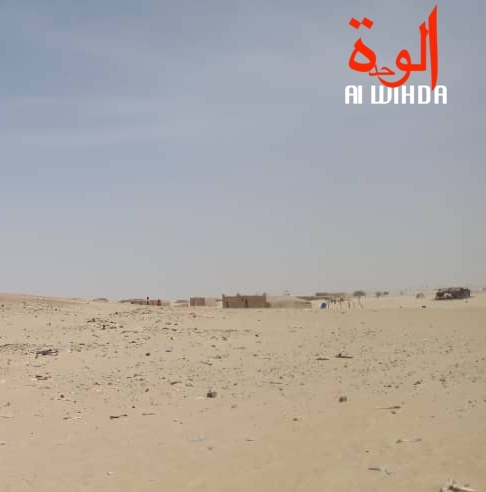 Une zone désertique au Borkou, au Nord du Tchad. © Abdoulaye Adoum Akim/Alwihda Info