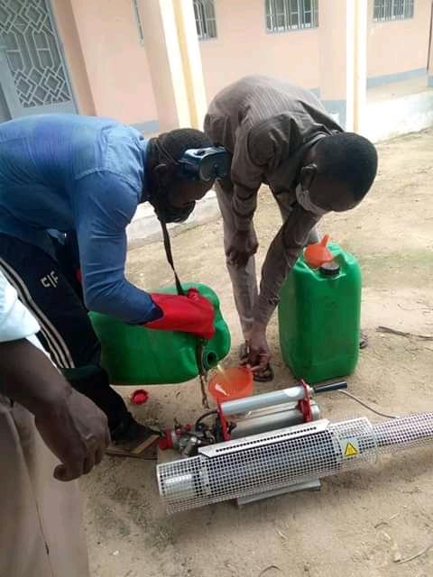 Tchad : les salles de classe ont été pulvérisées à Abéché pour la reprise des cours. © Abba Issa/Alwihda Info