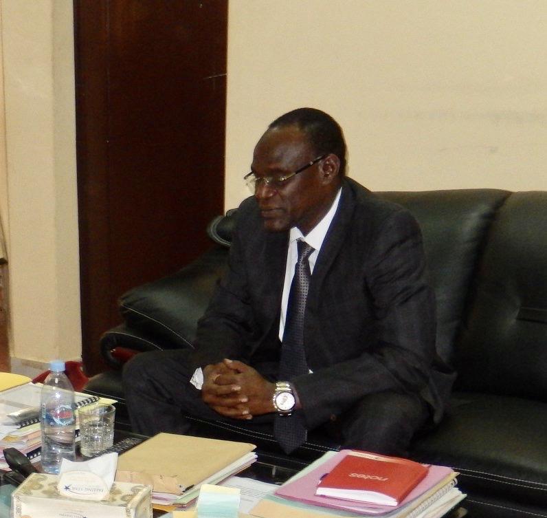 Djimet Arabi, ministre de la Justice chargé des droits humains.