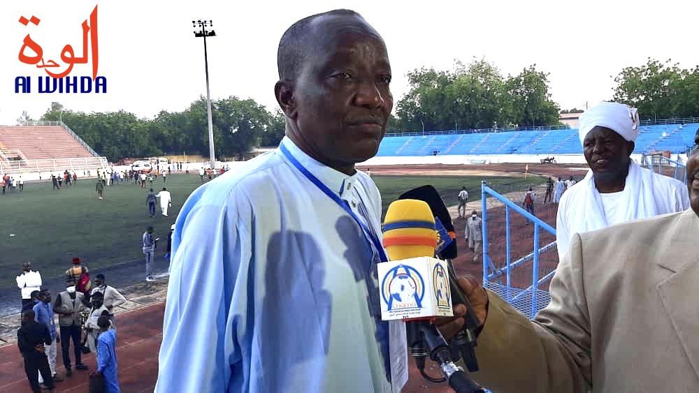 Le président de la Fédération tchadienne de football association (FTFA), Moukhtar Mahmoud. © Abakar Chérif/Alwihda Info