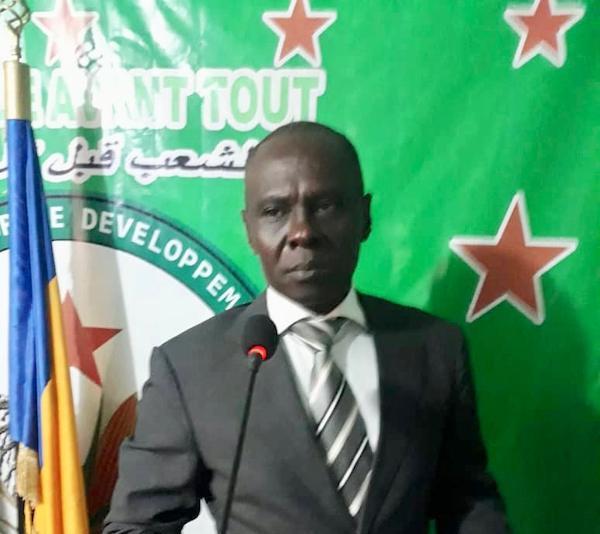 Max Kemkoye, président du parti d'opposition l'Union des Démocrates pour le Développement et le Progrès (UDP). © Alwihda Info