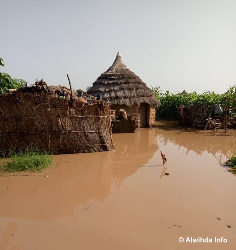 Des inondations dans la province de Sila, à l'Est du Tchad, en août 2020. © Mahamat Issa Gadaya/Alwihda Info