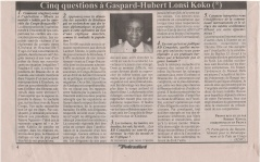 INTERVIEW KOKO Cinq questions