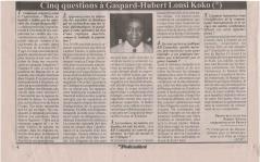 INTERVIEW KOKO Cinq questions