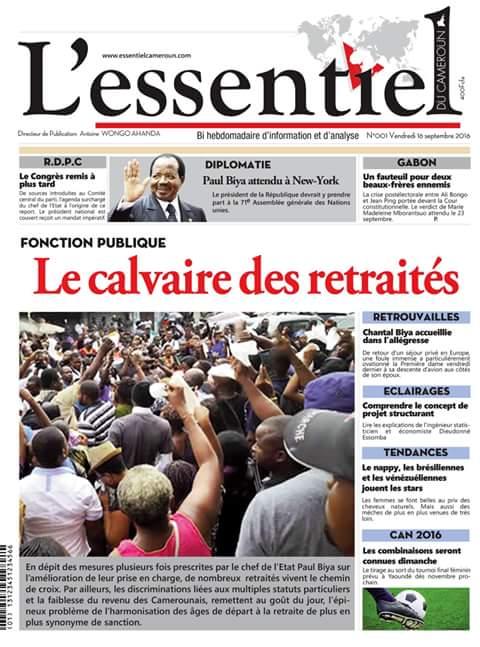 Médias : L'Essentiel du Cameroun dans les kiosques