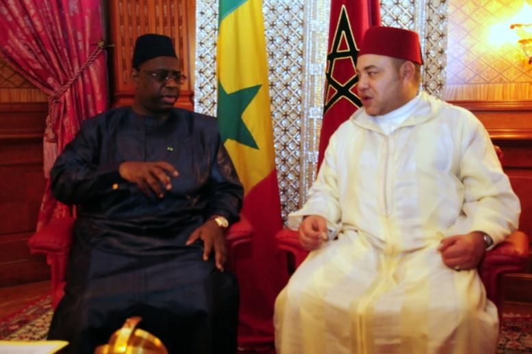 Le Président sénégalais Macky Sall et le Roi du Maroc, Mohammed VI. Crédit photo : Sources