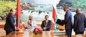 En visite officielle à Madagascar, le Roi Mohammed VI promeut la coopération bilatérale et la consolidation du partenariat Sud-Sud