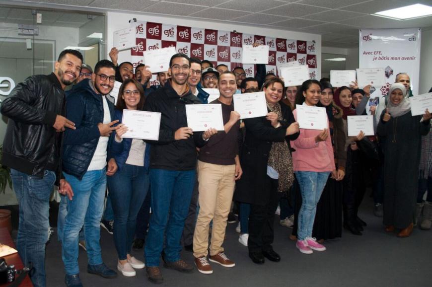 Partenariat Citi- EFE Maroc : 75 jeunes diplômés marocains formés et insérés