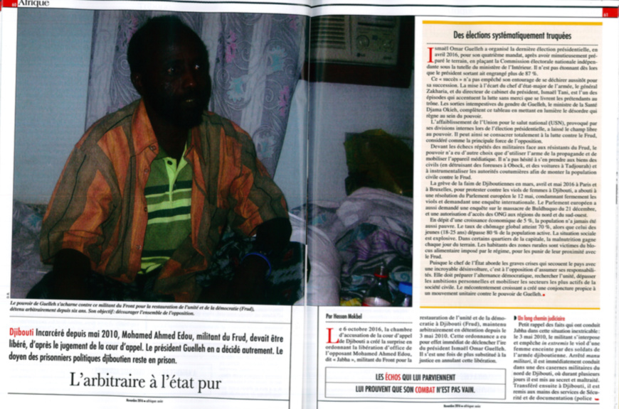 La détention provisoire à Djibouti : note à propos de  l'affaire Mohamed Ahmed, dit Jabha