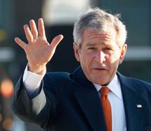 Bush devrait rester invisible jusqu'au bout