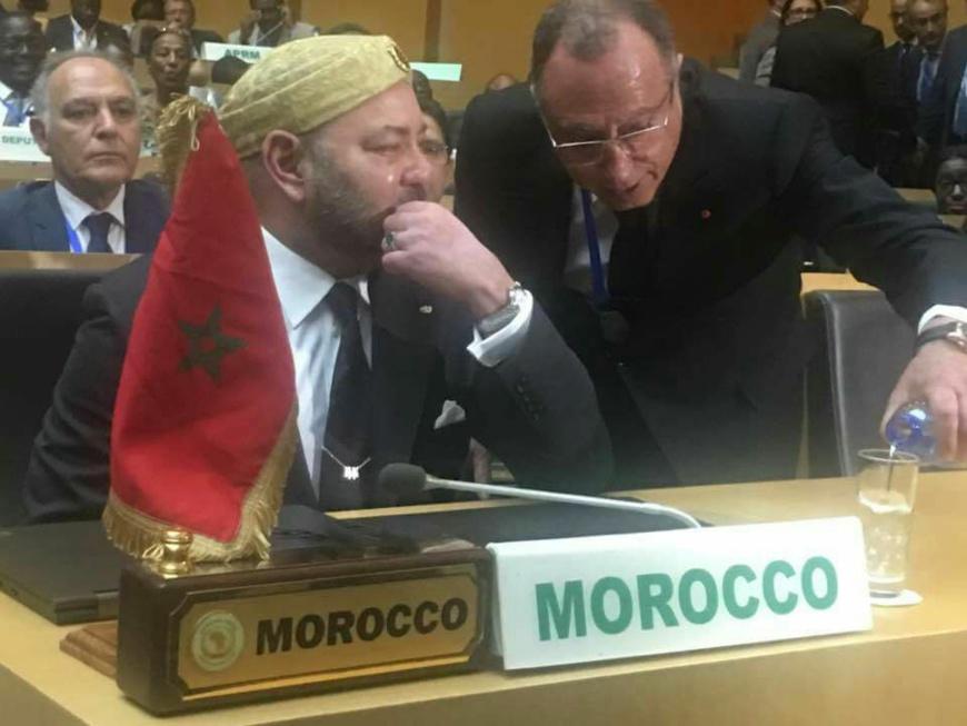 Le roi du maroc ému à l'annonce du retour du pays au sein de sa famille africaine. Crédit photo : Sources