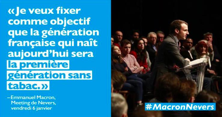 """""""Afrique sans tabac"""" soutien la candidature d'Emmanuel Macron"""