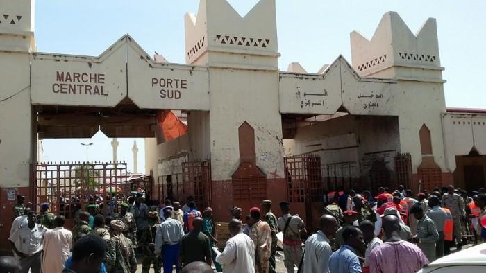 Le marché central de N'Djamena. Crédit photo : Sources