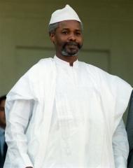 L'ancien président tchadien Hissène Habré, le 21 octobre 1989 à Paris