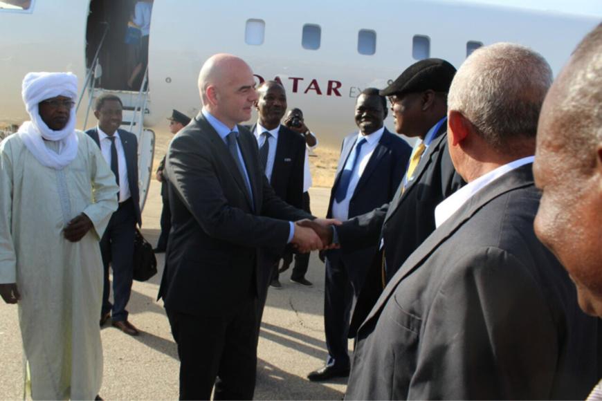 Arrivée du Président de la FIFA à N'Djamena. Alwihda Info
