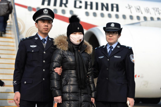 'Red Notice' graft suspect returns to China