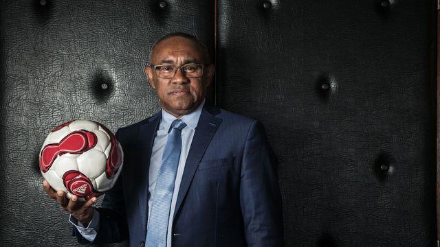 Le nouveau président de la Confédération Africaine de Football, le 13 février 2017 à Antananarivo afp.com/RIJASOLO