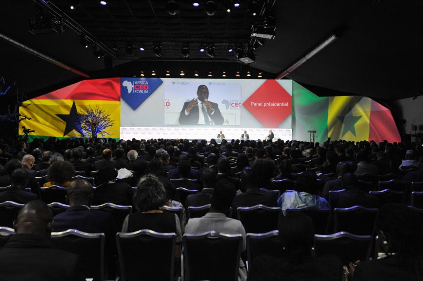 Panel présidentiel au AFRICA CEO FORUM 2017