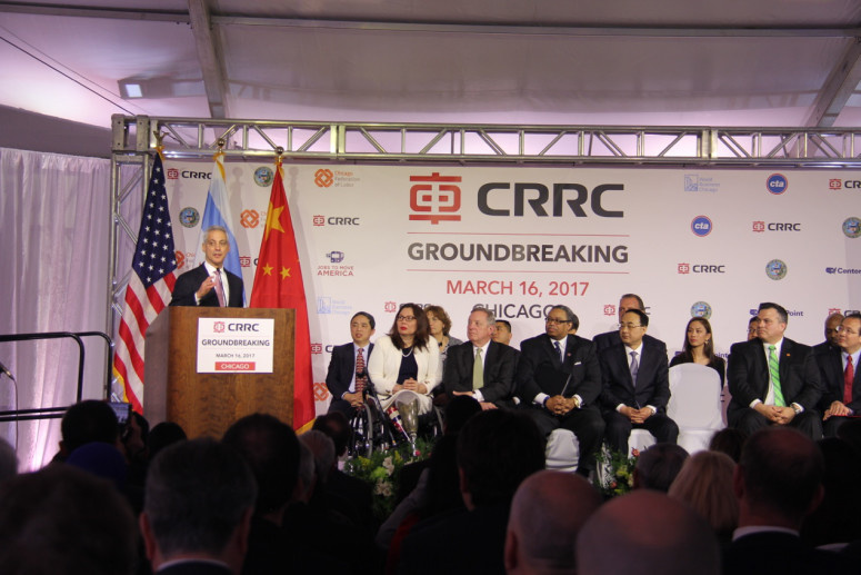 Chinese train maker expands US market