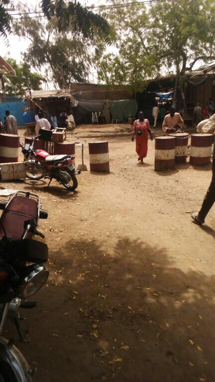 Le marché de mil ce matin, en plein mouvement de grève observé par les commerçants. Alwihda Info/A.B.