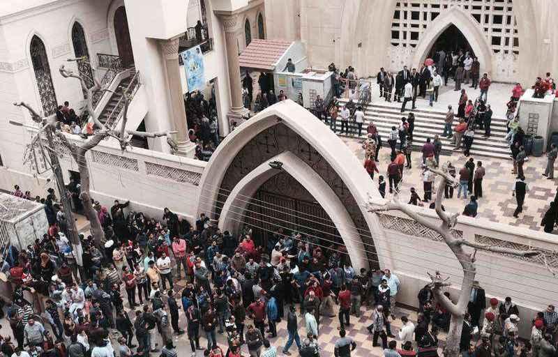 L'église Mar Girgis de Tanta, en Egypte, frappée par un attentat terroriste le 9 avril 2017 - Nariman El-Mofty/AP/SIPA