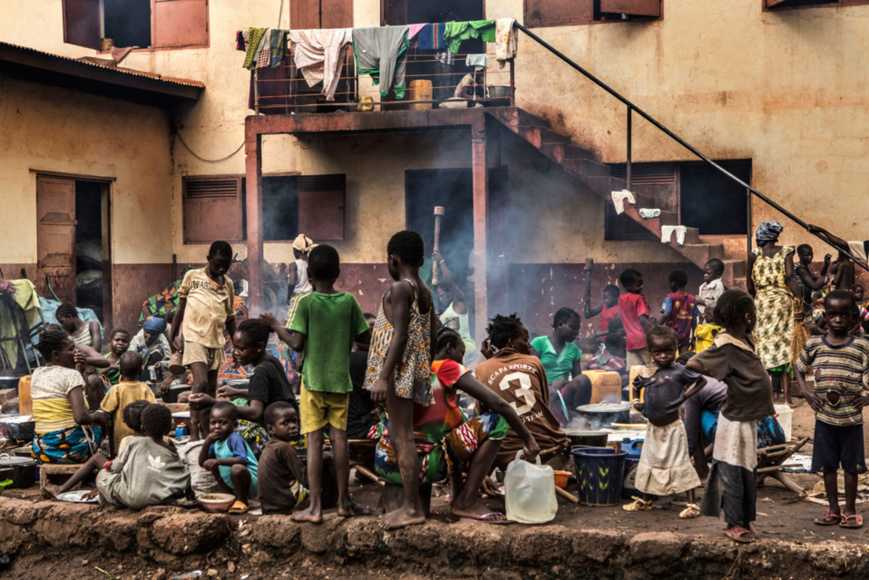 Des civils en Centrafrique. Crédits photo : Sources