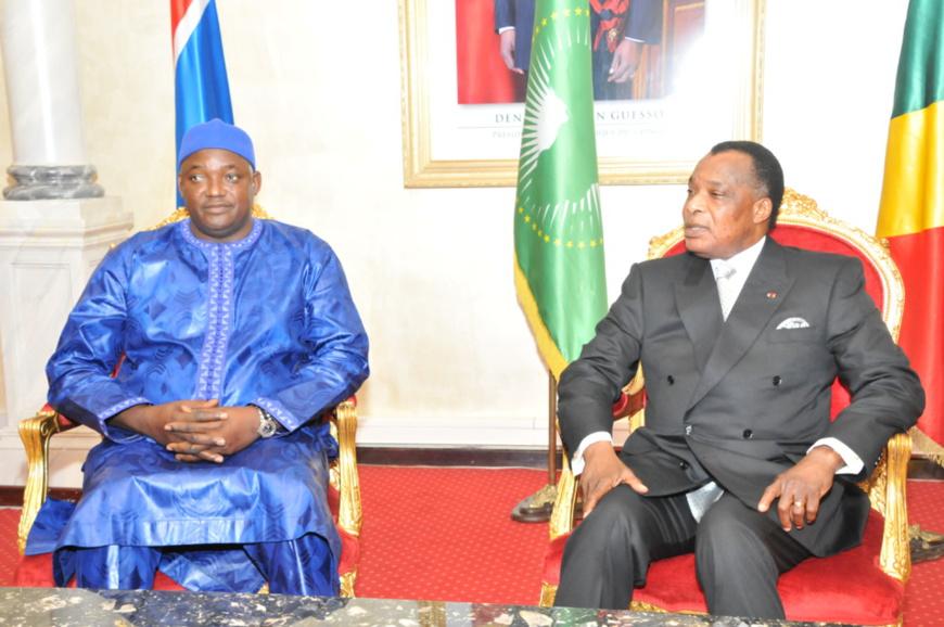 Congo-Gambie : Abama Barrow loue l'action de Sassou N'Guesso dans la resolution des crises africaines