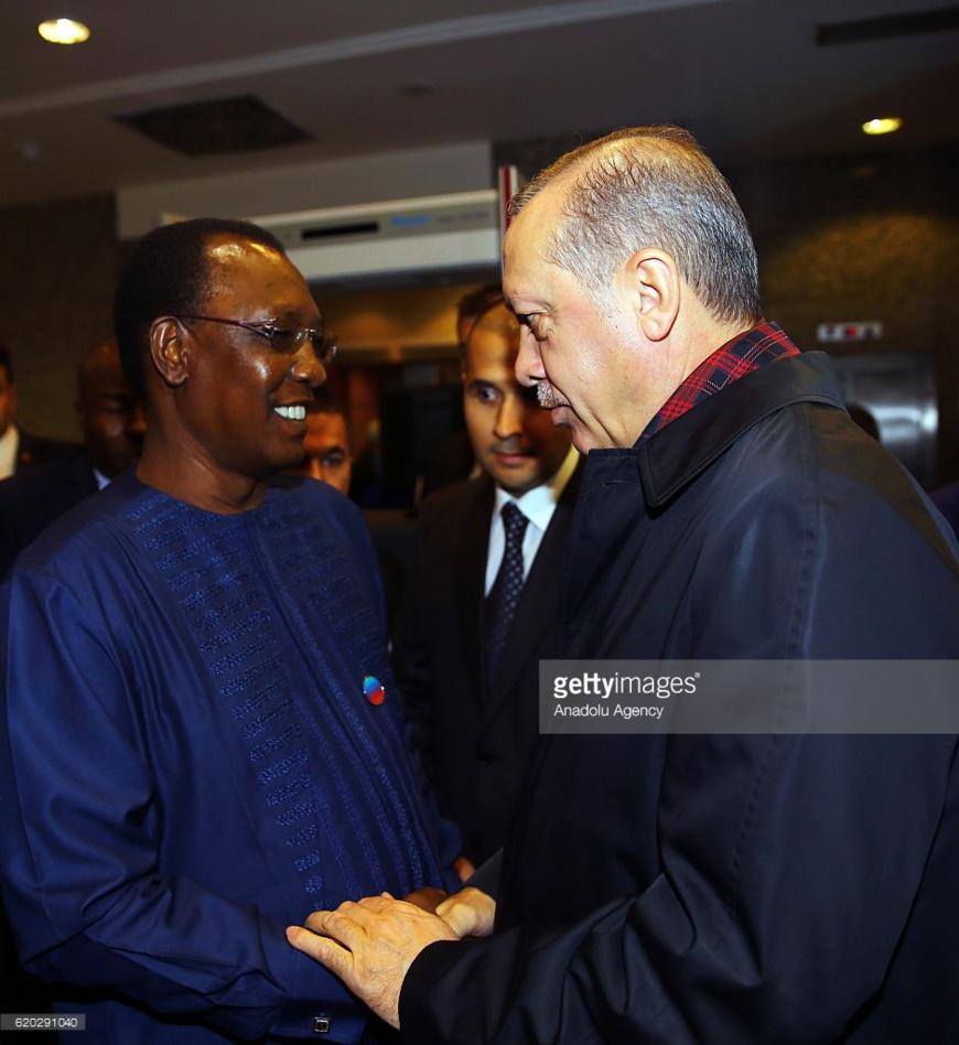 Idriss Déby et Erdogan. AA