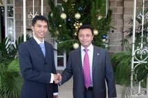 Andry Rajoelina et Marc Ravalomanana. Photo non daté.