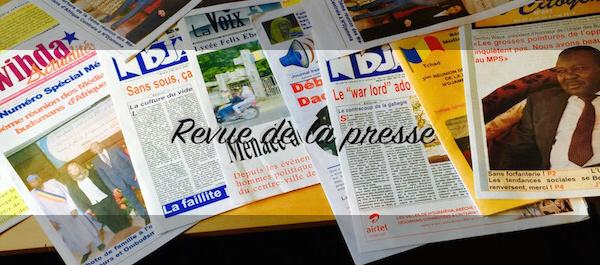 "Tchad : Insécurité, la ""jungle"", assassinats, arrestations, la revue de presse"