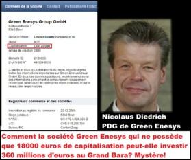 Blanchiment d'argent sale au Grand Bara: Comment la société Green Enesys qui ne dispose que d'un patrimoine financier de 18 000 euros peut-elle investir 360 millions d'euros dans le projet de la centrale solaire de 300 MW du Grand Bara ?