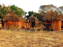 Village tchadien, Photo non datée.