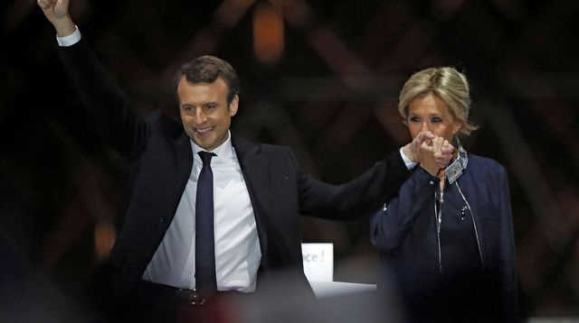 Emmanuel Macron, et son épouse. Crédits : /