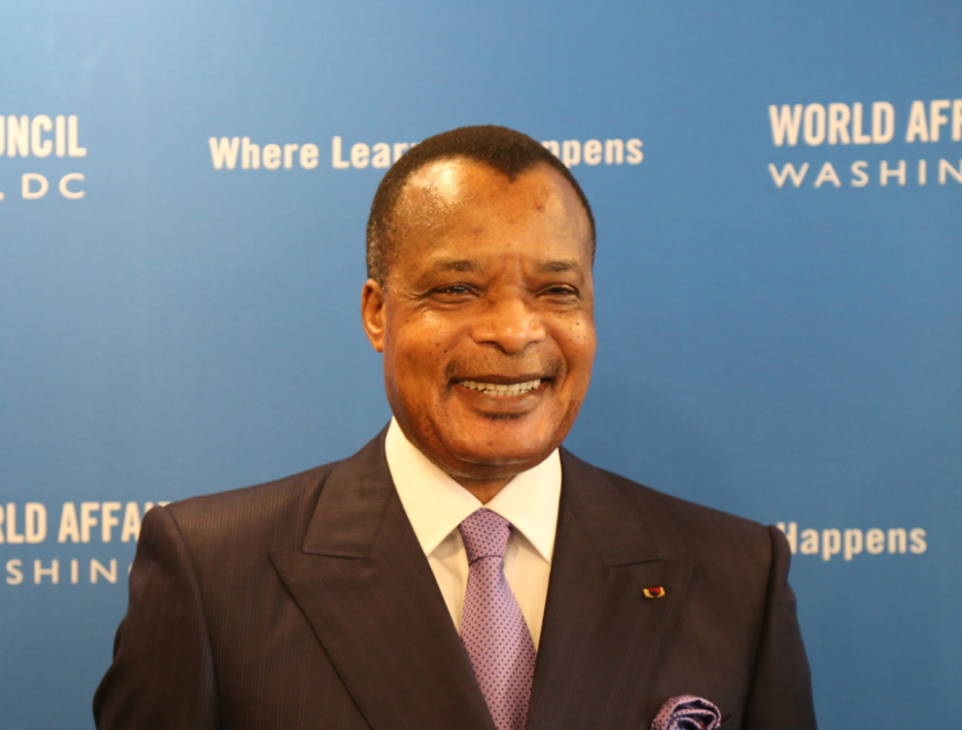 Le président Denis Sassou-N'Guesso au National Press Club ©ADIAC