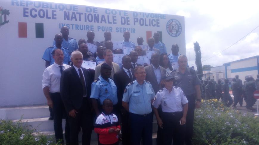 Côte d'Ivoire / Renforcement des capacités en police technique et scientifique : 15 formateurs-stagiaires reçoivent leurs parchemins