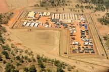 Vue aérienne du camp de Goz Beida.