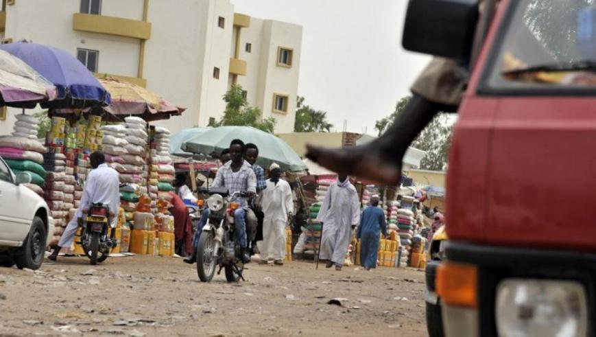 Sur le marché de N'Djamena. Crédit photo : ISSOUF SANOGO/EUROPEAN-COMMISSION/AFP
