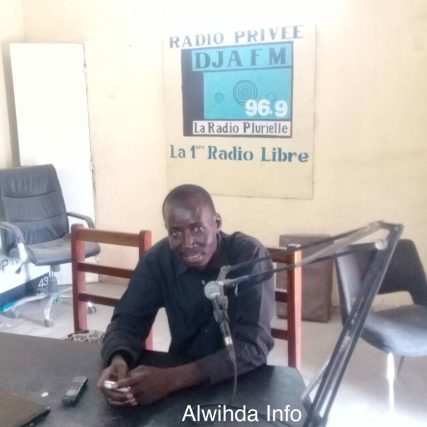 Le journaliste de Dja Fm, Boulga David. Alwihda Info