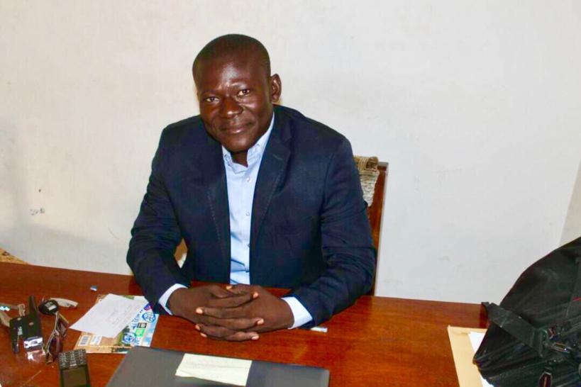 Le président de l'Union des Journalistes Tchadiens (UJT), Belngar Larmé. Alwihda Info/D.W.