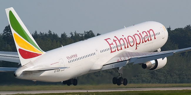 Un avion de la compagnie Ethiopian Airlines. Crédits photo : Sources