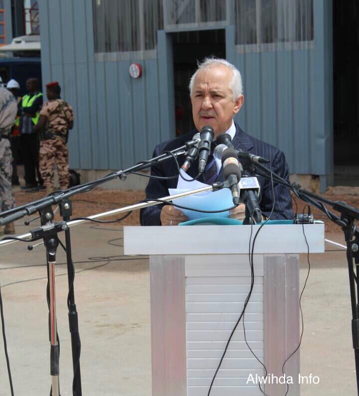 Le président Directeur général du Groupe Cimaf, Anas Sefrioui lors de l'inauguration, ce lundi 12 juin, de la nouvelle cimenterie de Lamadji. Alwihda Info