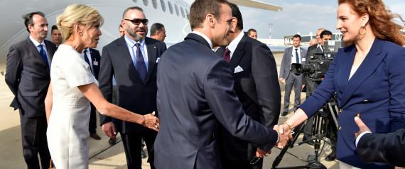 Accueil chaleureux du Président Français par le Roi Mohammed VI du Maroc pour sa première visite au Maghreb