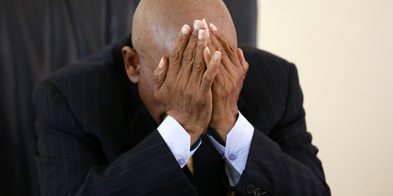 L'ex-premier ministre du Lesotho, Thomas Thabane, à Maseru, le 27 février 2015. En juin 2017, il a été de nouveau élu à la tête du gouvernement. CRÉDITS : SIPHIWE SIBEKO/REUTERS