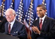 Ted Kennedy & Barack Obama