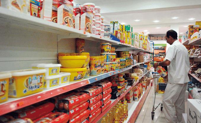 Un rayon alimentaire en Algérie. Crédits : Sources